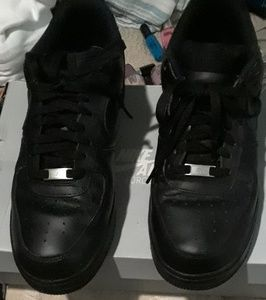 Air force 1s low black  can go 50